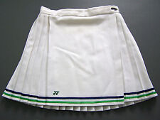Yonex Tennis Sports Skirt Small W26 in. White Blue Green Pleated Vintage ITAx381