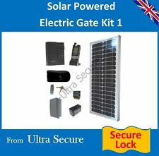 Solar Powered Electronic Gate Lock & Wireless Intercom with Digital Keypad Kit