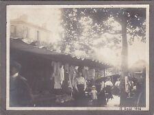 Fascinating Antique Photo, c1916 - French Market Scene, Social History, Clothes