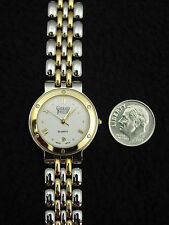 NEW Vintage French Gerrard Phillipe Ladies Watch Stainless & Gold, Swiss Quartz