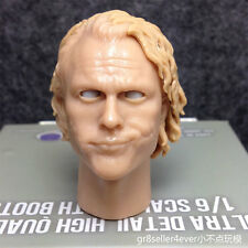 Custom 1/6 Scale Joker Heath Ledger Blank Head Sculpt The Dark Knight move eyes