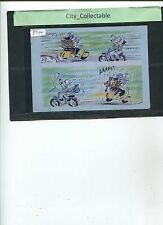 P724 # MALAYSIA USED PICTURE POST CARD * LATS' COMIC DRAWING .. MOTOR CYCLE