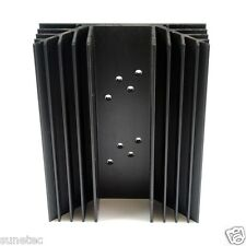 SS662 TO-3 holes x2 Aluminum Black Heatsink Heat Sink Audio Amplifier