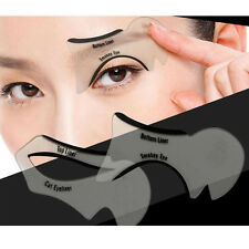 2 get 1 Eyeliner Stencil Set Eyeshadow Guide SMOKEY Cat Eye Makeup Tool UK STOCK