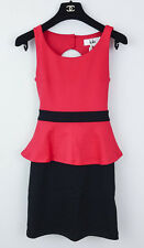 ~INSANELY SEXY~ LOLA ANTHROPOLOGIE NEW CORAL PEPLUM BODYCON DRESS XS NWT