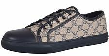 NEW Gucci 309462 BLUE GG Supreme Low Top Sneaker Trainers Shoes 14 G 15 U.S