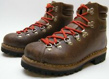 MENS VTG RAICHLE BROWN LEATHER MOUNTAINEERING HIKING TRAIL BOOTS SHOES 5.5~1/2 M