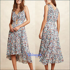 NWT 14 $168 Anthropologie Evanthe Pleated Dress by Plenty Tracy Reese Gorgeous!