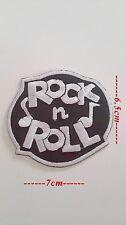 Patch  Rock N Roll à coudre ou à coller au fer à repasser