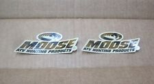 "2 MUD Moose ATV Hunting Products 5""x2"" camo sticker/decal NEW motocross utility"