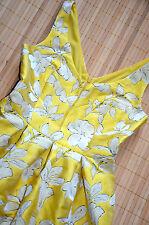 HALLHUBER wunderschönes Kleid Gr. 36 / UK 8 neu Rücken Ausschnitt Sonnengelb