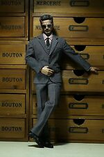 █ Poptoys X22 1/6 Men Stripe Grey Suit C for Narrow Shoulder TTM21 Hottoys Body