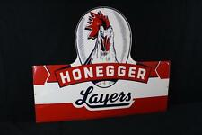 "WOW! Honegger Layers Chicken Farm Tin Sign 47x59"" Poultry Lot 98"