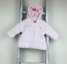 Baby Girl Next Hooded Coat Size 0-3 Months Pink Star Jacket Spring