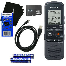 Sony ICD-PX333 Digital Voice Recorder, 8GB Memory Card, USB Cable, AAA Batteries