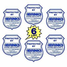 6 LOT BRINKS ADT HOME SECURITY SURVEILLANCE SYSTEM ALARM WINDOW WARNING STICKERS
