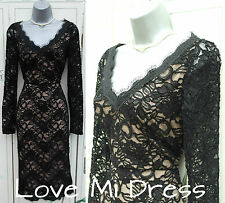 Gorgeous 50's Style Lace  Pin-Up Pencil/Wiggle Dress Sz 10 EU38