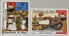 NIGER 1976 520-21 354-55 2nd Ann take over Natl. armed Forces Army Streitkräfte
