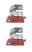 Cummins Diesel Power Automotive Badge Emblem Decals - 2 Pack