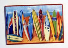 "Surfing Surf Boards Summer Ocean 2"" x 3"" Fridge MAGNET art movie"