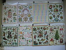 8 LOT Gifted Stickers Christmas Angels Quotes Victorian Birthday Animals Flowers