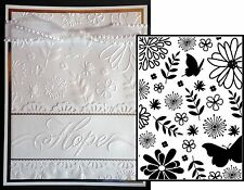 Butterfly Embossing folders FLORAL 1218-76 DARICE Cuttlebug Compatible Flowers