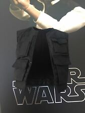 Hot Toys MMS261 Star Wars: A New Hope Han Solo Black Vest Jacket  Loose
