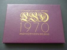 1970 ROYAL MINT PROOF COIN SET CON OUTER wrapper & foglio illustrativo. 1970 Prova Set