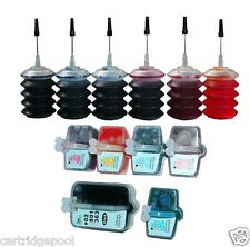 Refillable ink set for HP 02 C7280 C8180 D7160  + 180ml