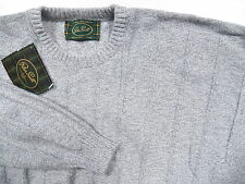 PETER SCOTT NWT MENS 42 LARGE GREY SWEATER WOOL 25% ANGORA MADE IN SCOTLAND UK