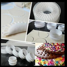 6X Round Plastic Scalloped Fluted Reversible Cookie Pastry Biscuit Cake Cutter