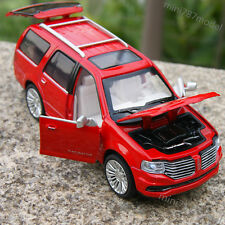 Lincoln Navigator SUV 2015 1:36 Model Cars Sound&Light Alloy Diecast Red Gifts