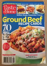 Taste Of Home Ground Beef Recipe Cards Skillets Casseroles 2015 FREE SHIPPING!