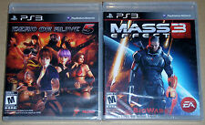PS3 Game Lot - Dead or Alive 5 (New) Mass Effect 3 (New)