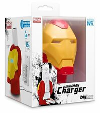 NINTENDO Wii e Wii U * MARVEL IRON MAN Wii Remote LIGHT UP Dock Caricabatteria * NUOVA