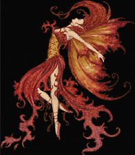 Fire Fairy Counted Cross Stitch Kit  Designs In Thread, Free P&P