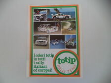 advertising Pubblicità 1982 TOTIP e FIAT 131 ABARTH RALLY