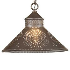 Stockbridge Shade Light in Blackened Tin w/ Chisel | Country Kitchen Lighting