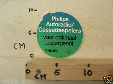 STICKER,DECAL PHILIPS AUTORADIO CASSETTESPELERS VOOR OPTIMAAL LUISTERGENOT