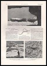Doc.Ancien Pyrénées Grottes souterraines CASTERET Spéléologie spéléologue  1927