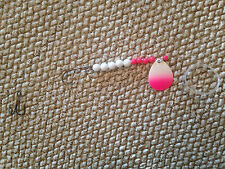 Spinner Rigs Leech, Worm Crawler Harness Walleye Custom Colors Pink/White