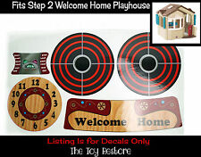 New Replacement Decals Stickers fits Step 2 Welcome Home Playhouse Step2 Cubby