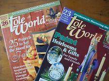 Vintage Tole World Magazines 2003, Set of 2 Magazines