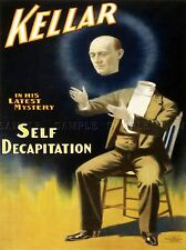 KELLAR DECAP MAGICIAN SELF DECAPITATION ADVERTISING POSTER 532PYLV