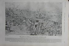 1903 BOER WAR ERA PRINT ~ THE FIGHT AT EREGO IN SOMALILAND (OCT 6 1902)