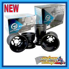"GO KART "" MAGNESIUM WHEEL SET "" 5 INCH BOLT-ON LOW VOLUME BLACK GT RIMS"