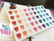 PP131 -- Tooth / Dentist Life Planner Stickers for Erin Condren 45 pcs