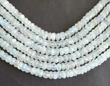"8"" STRAND RAINBOW MOONSTONE BEADS FACETED RONDELLE 6.5 - 7 MM GMESTONE #3482"