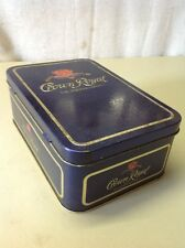 FREE SHIPPING!! Crown Royal Empty Whisky Tin Metal Shipping Storage Box Case