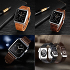 Genuine Leather Wrist Watch Strap Band Buckle Belt For iWatch Apple Watch 42/38